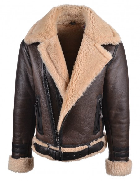 North Mens Genuine Shearling Jacket - M1001