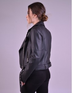 Antique Brown Leather Fitted Dress - W2077V